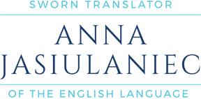 Anna Jasiulaniec - Tłumacz Przysięgły